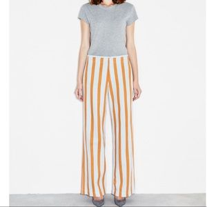M.i.h jeans canyon stripe pants orange linen S